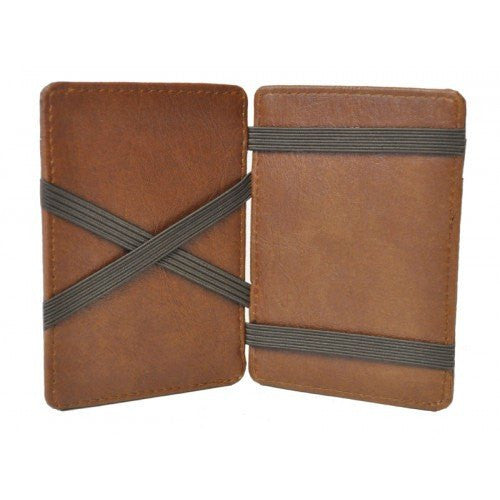 LINCOLN -  Mens Tan Light Flip Faux Leather Magic Wallet  - Belt N Bags