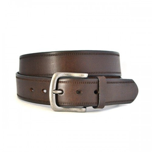 DUNDEE - Mens Brown Genuine Leather Belt - Belt N Bags