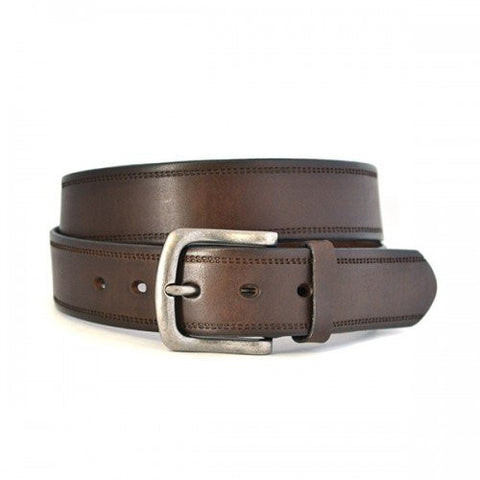 DUNDEE - Mens Brown Genuine Leather Belt