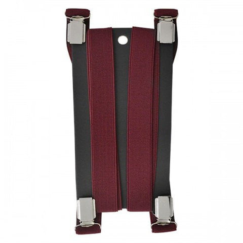 DWAYNE - Mens Burgundy Fashion Braces