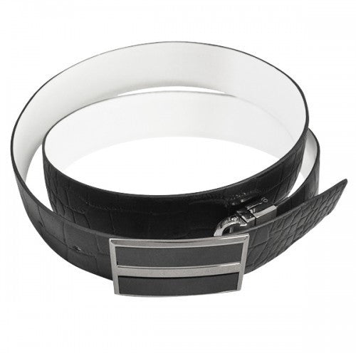 DYLAN - Mens Black Genuine Leather Reversible Belt - Belt N Bags