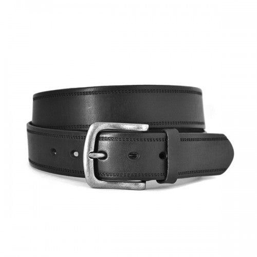 DUNDEE - Mens Black Genuine Leather Belt - Belt N Bags