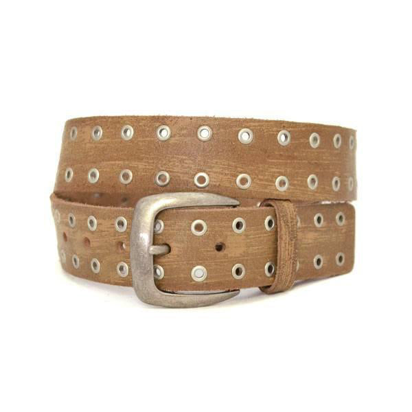 EMILIO - Mens Light Brown  Leather Belt - CLEARANCE  - Belt N Bags