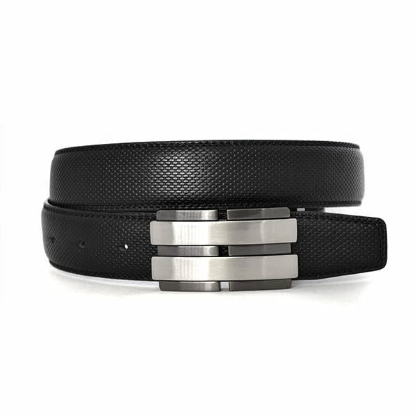 ELLIOT - Mens Black Reversible Leather Belt - Belt N Bags