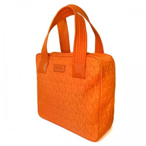 FARLEY -  Womens Orange Lamb Embroidered Stitching Unique Handbag  - Belt N Bags
