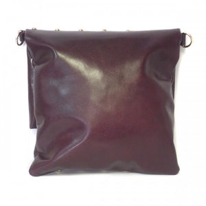 RUBY - Womens Purple Leather Cross-body Thin Side Fold Bag - BeltNBags