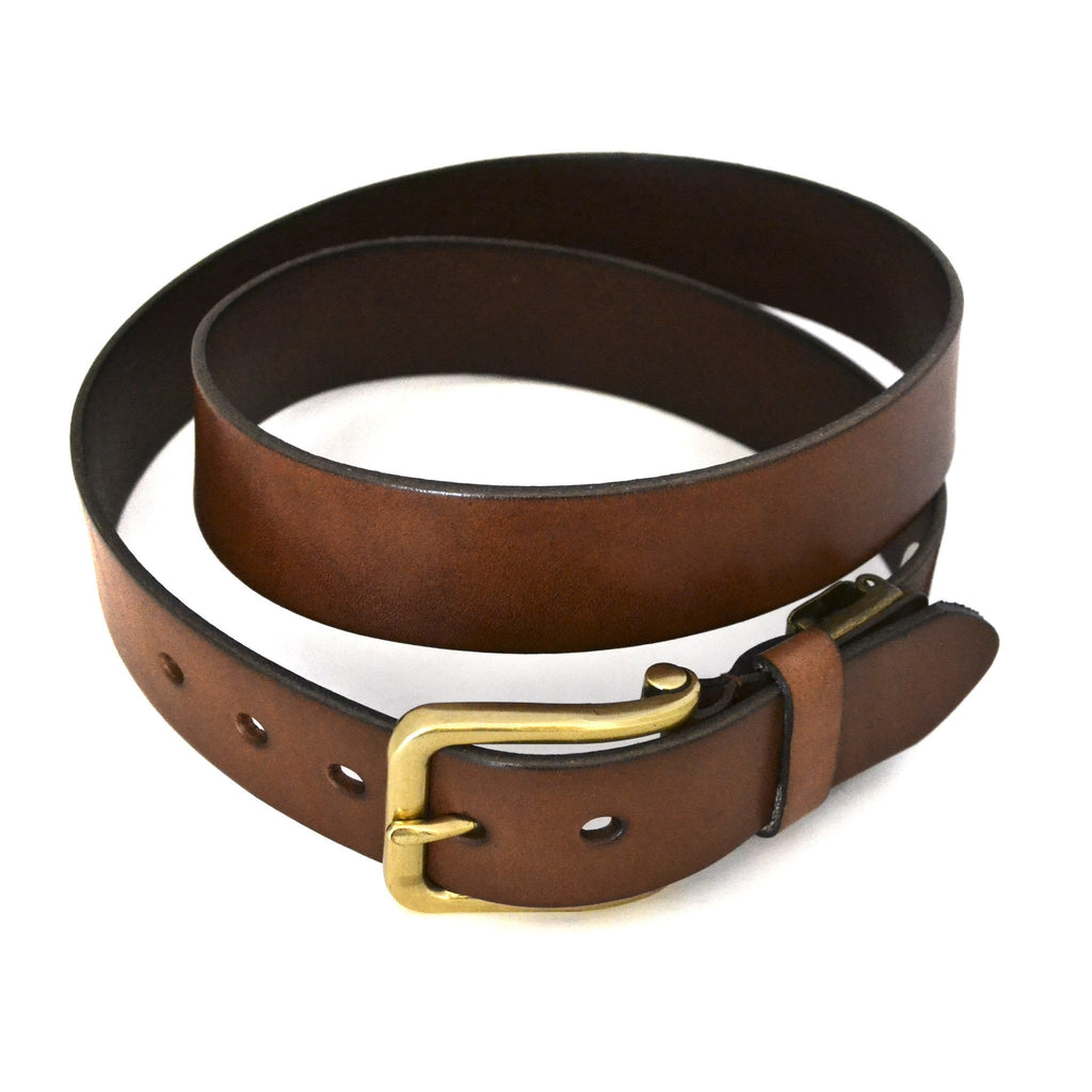 FLORIDA - Mens Tan Genuine Leather Belt - Belt N Bags