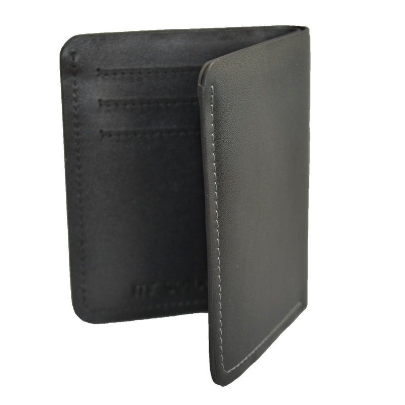FORBES - Black Genuine Leather Card Holder Thin Wallet - BeltNBags