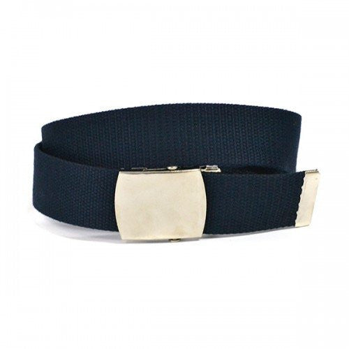GREG - Mens Navy Canvas Webbing  Belt - Belt N Bags