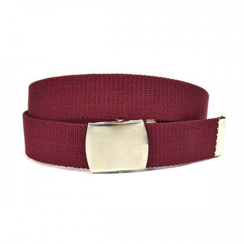 GREG - Mens Maroon Canvas Webbing Belt - BeltNBags