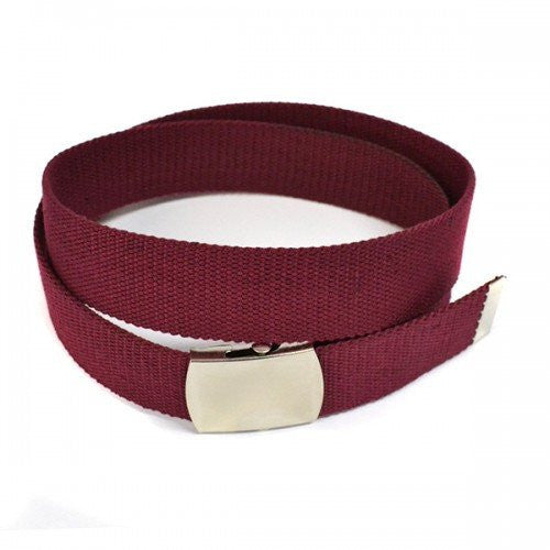 GREG - Mens Maroon Canvas Webbing Belt - Belt N Bags