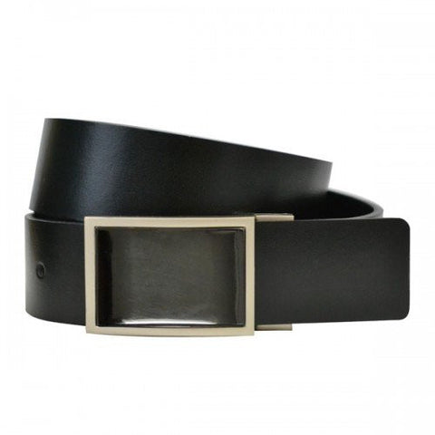 HARLEM - Mens Black Bonded Leather Belt