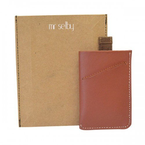 HARRIS - Mens Tan Genuine Leather Thin Card Wallet in Gift Envelope - CLEARANCE  - Belt N Bags