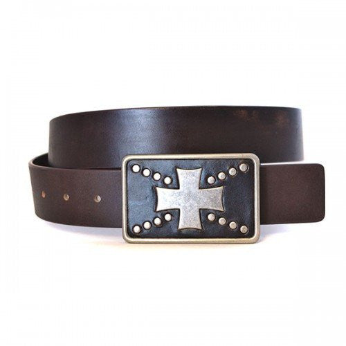 HUGH - Mens Brown Leather Belt - BeltNBags