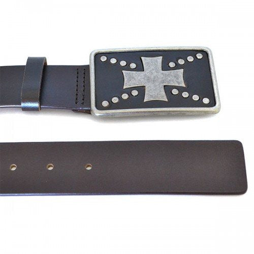 HUGH - Mens Brown Leather Belt - Belt N Bags