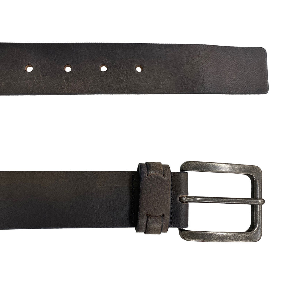 AUSTIN- Men's Charcoal Genuine Leather Belt