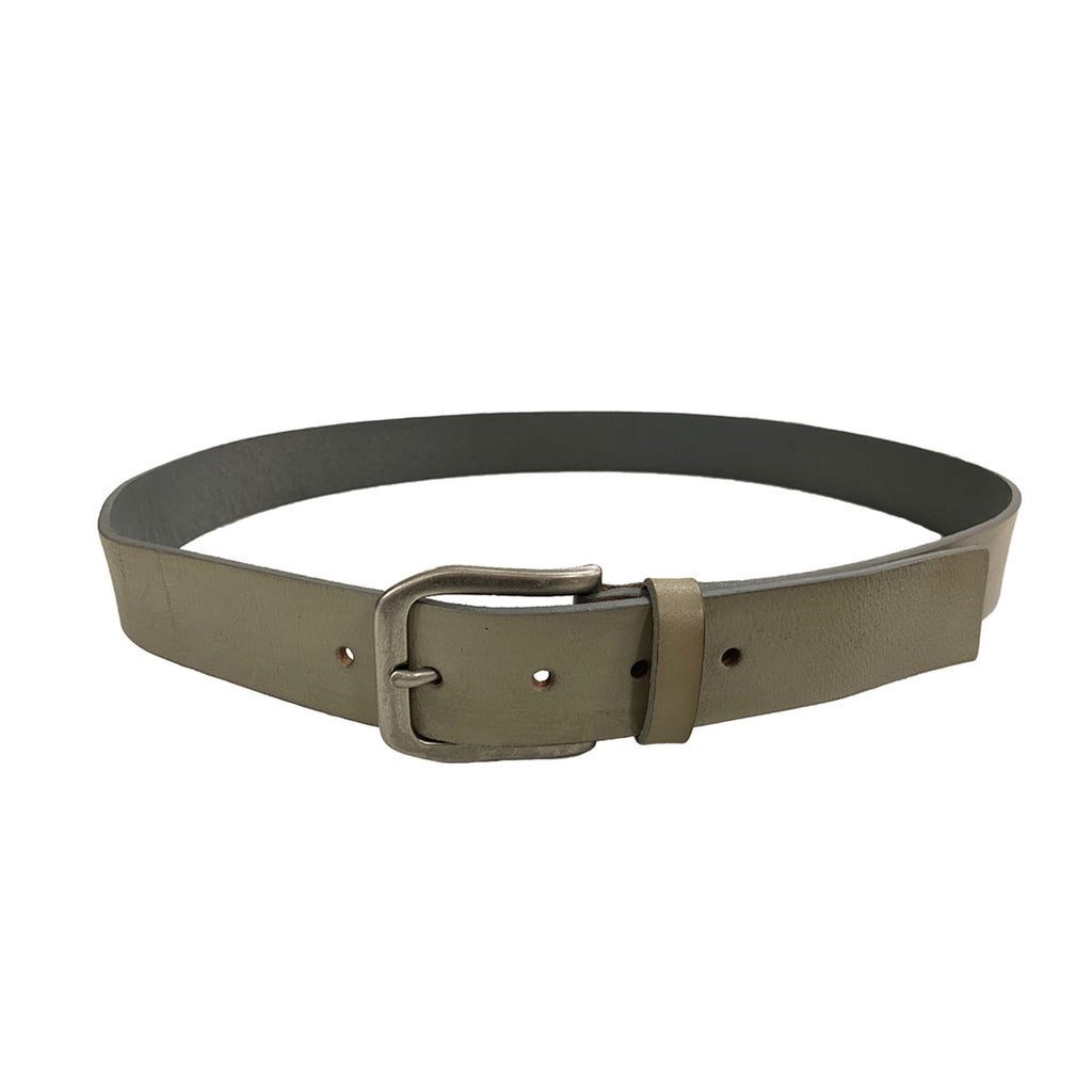 COLE- Men's Grey Leather Belt