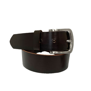 MOONEE- Women's Dark Brown Genuine Leather Belt - Limited Size Range