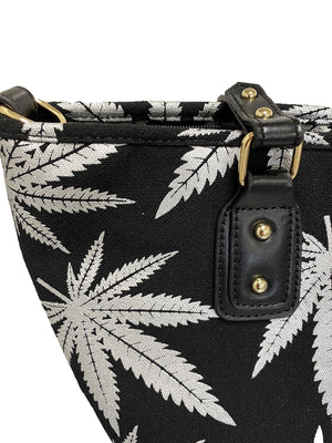 SEFTON - Women's Black and Silver Pattern Canvas Bag