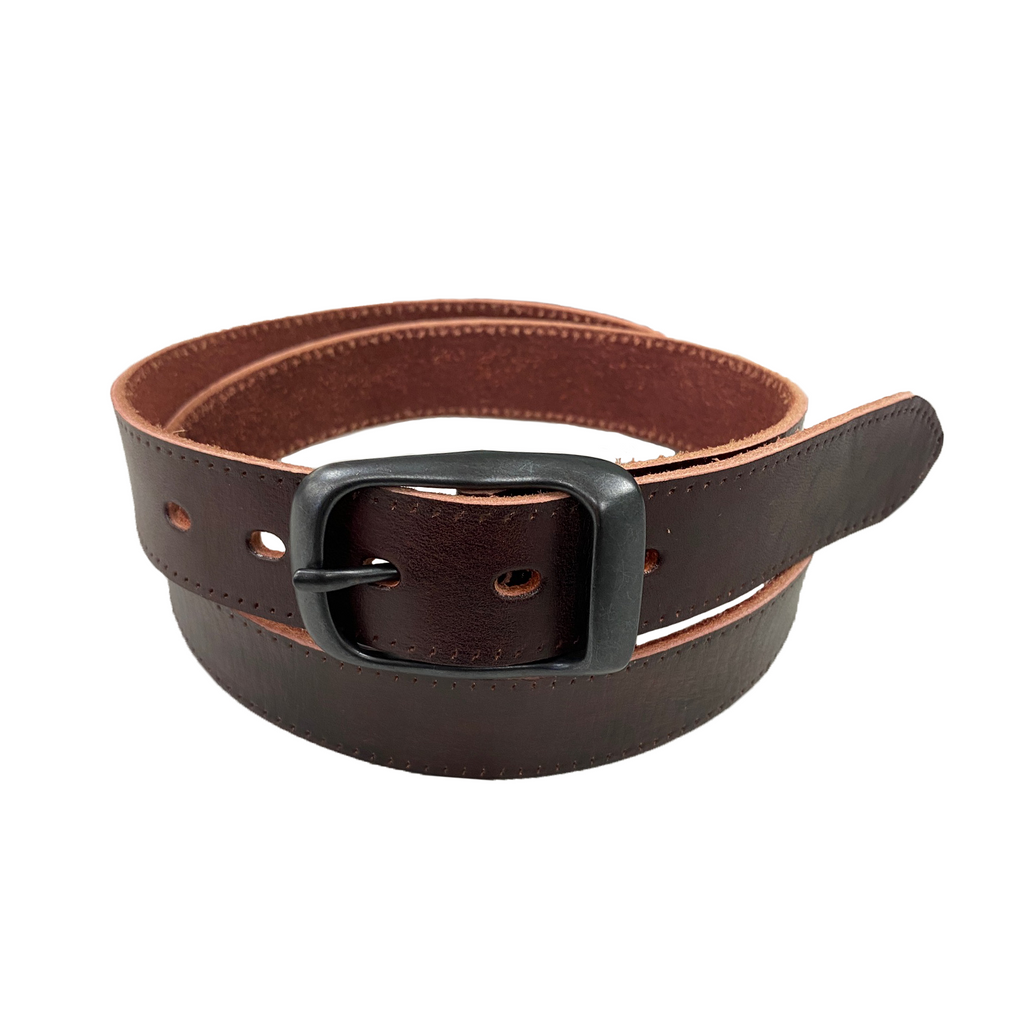 AVONDALE - Women's Dark Brown Genuine Leather Belt