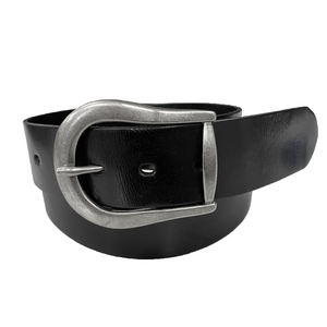 CATALINA - Women's Black Genuine Leather Belt