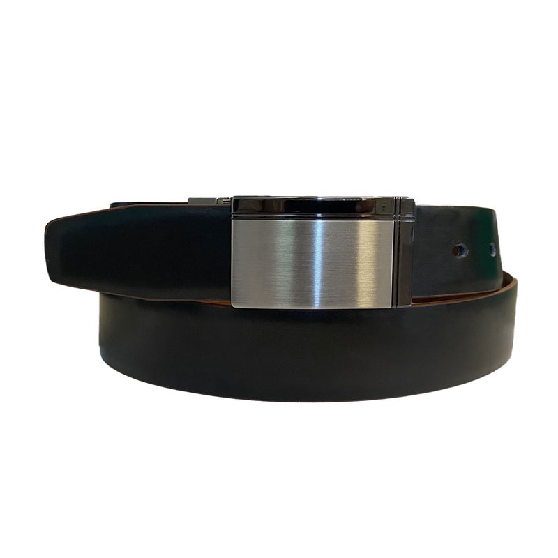 ROHAN - Mens Black and Brown Reversible Genuine Leather Belt  - Belt N Bags