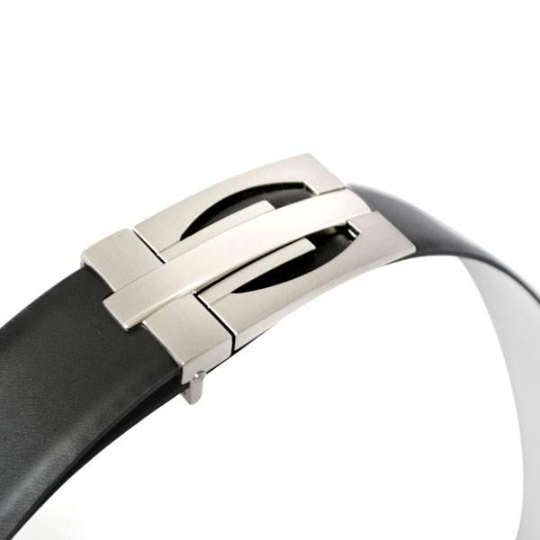 JAMES - Mens Black and White Leather Belt - Belt N Bags