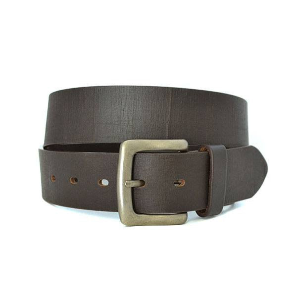 JASPER - Mens Brown Leather Belt  - Belt N Bags