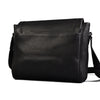 JAX - Mens Black Faux Leather Messenger Bag  - Belt N Bags