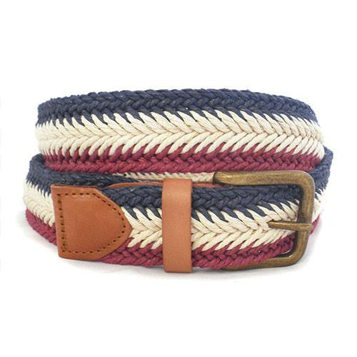 JAY - Mens Tri-Colour Webbing Belt - Belt N Bags
