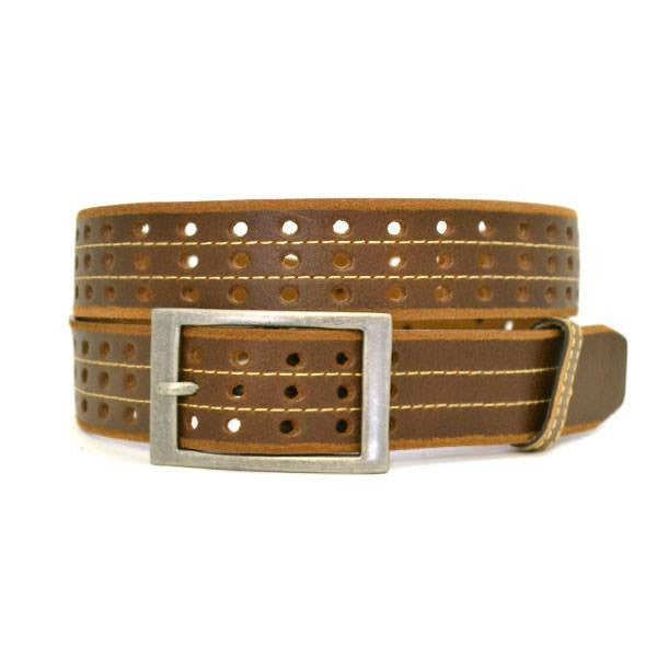 JOEL - Mens Brown Leather Belt  - Belt N Bags