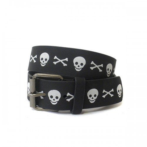 Boys Jolly Roger Black and White Belt Twin Pack - Belt N Bags