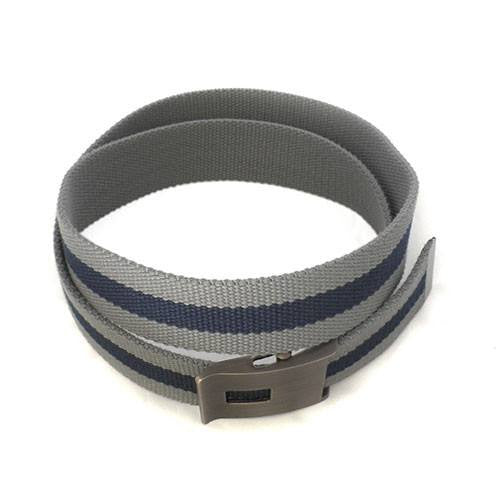 JULIAN - Mens Grey & Navy Canvas Belt - CLEARANCE  - Belt N Bags