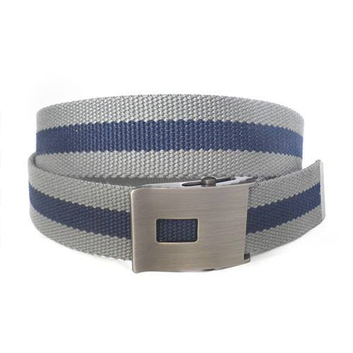 JULIAN - Mens Grey & Navy Canvas Belt - BeltNBags