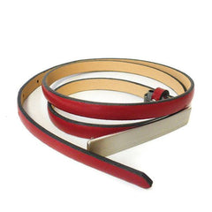 JUSTINE - Womens Burgundy Leather Belt