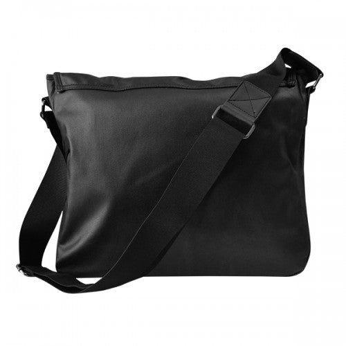 JAMIESON - Mens Black Faux Leather Bag - BeltNBags