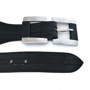 JANE - Womens Black PU Belt - Belt N Bags