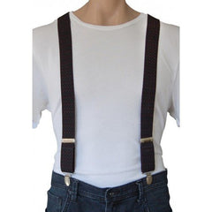 JEREMY - Mens Black & Maroon Fashion Braces