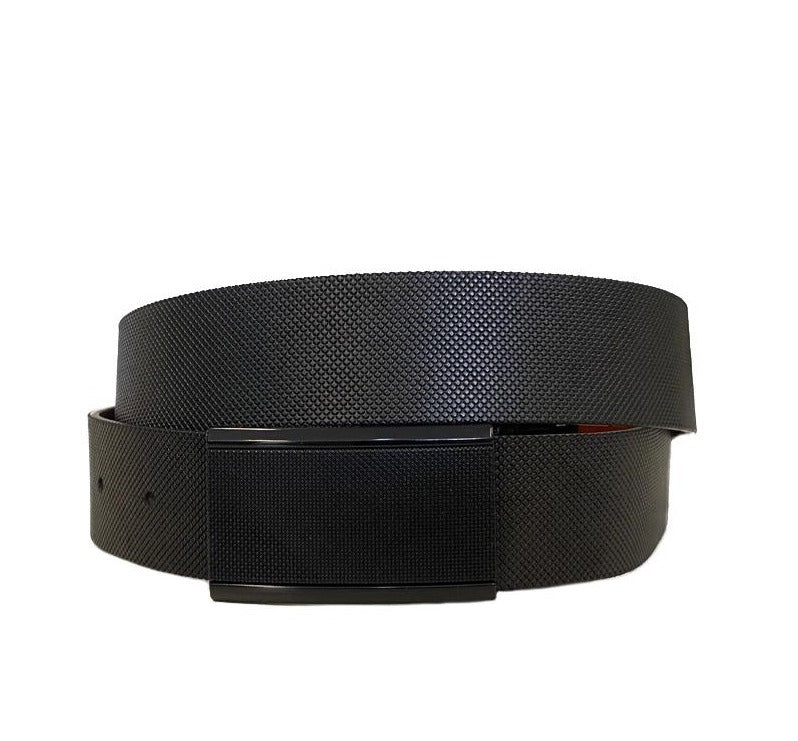 JORDAN - Men's Black Bonded Leather Belt  - Belt N Bags