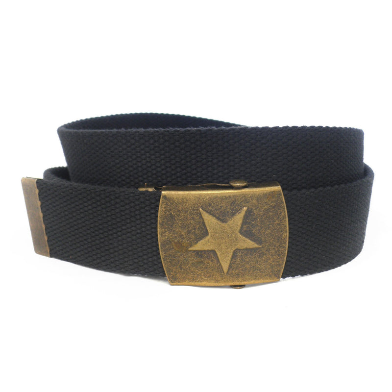 KELSO - Mens Black Webbing Belt - BeltNBags