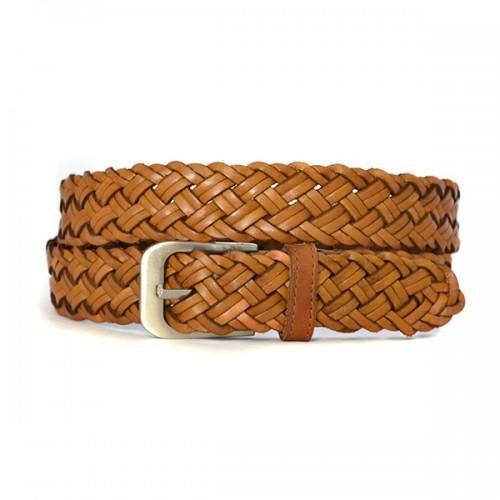 KERAN - Mens Tan Leather Belt - Belt N Bags