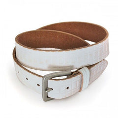 KHALID - Mens Off-White Leather Belt