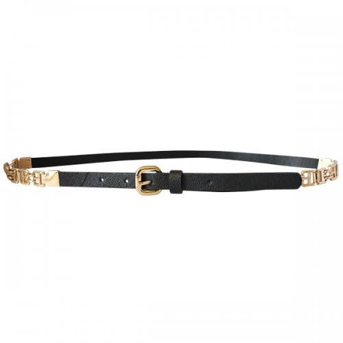 KIERA - Womens Black Faux Leather Belt - BeltNBags