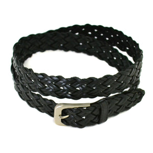 KERAN - Mens Black Leather Belt - Belt N Bags