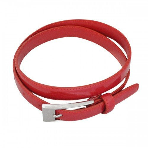 LACEY - Womens Red Genuine Leather Belt - BeltNBags