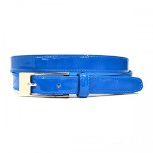 LACEY - Womens Blue Genuine Leather Belt - BeltNBags