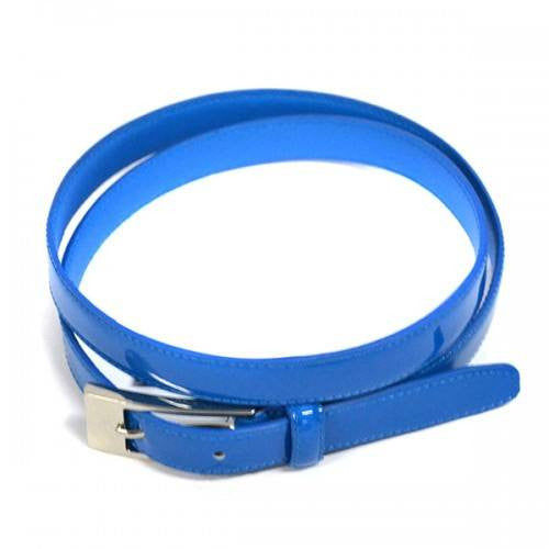 LACEY - Womens Blue Genuine Leather Belt  - Belt N Bags