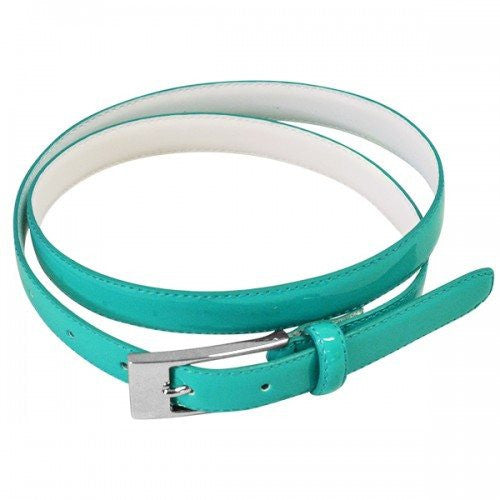 LACEY - Womens Turquoise Genuine Leather Belt  - Belt N Bags