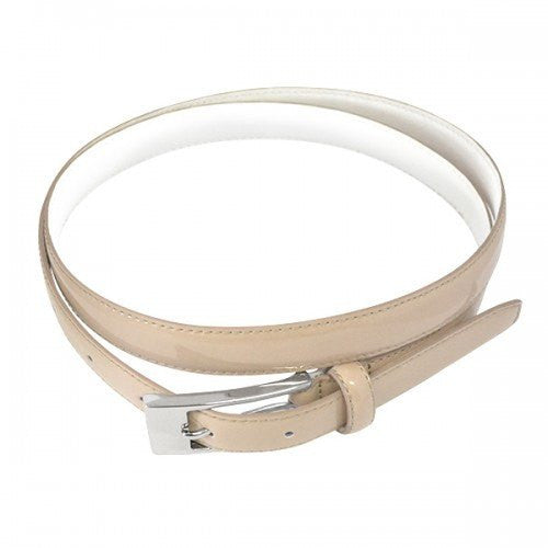 LACEY - Womens Nude Genuine Leather Skinny Belt  - Belt N Bags