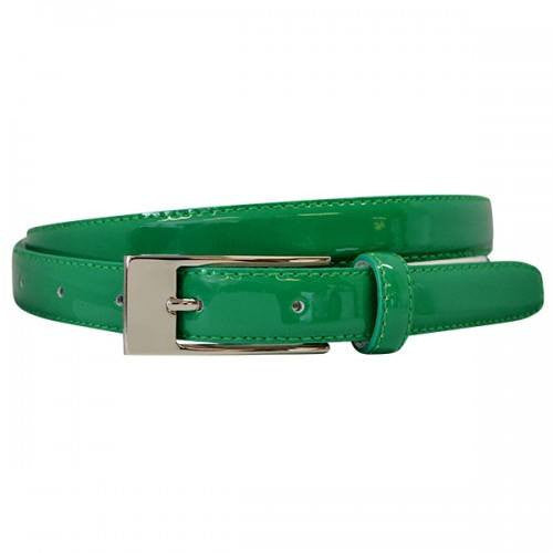LACEY - Womens Emerald Green Patent Leather Belt  - Belt N Bags